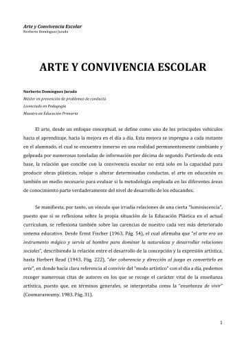 ARTE Y CONVIVENCIA ESCOLAR - Congreso Convivencia Escolar