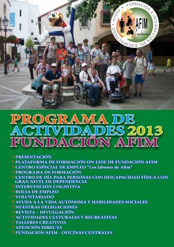 Prog. Actividades 2013 - Fundación AFIM