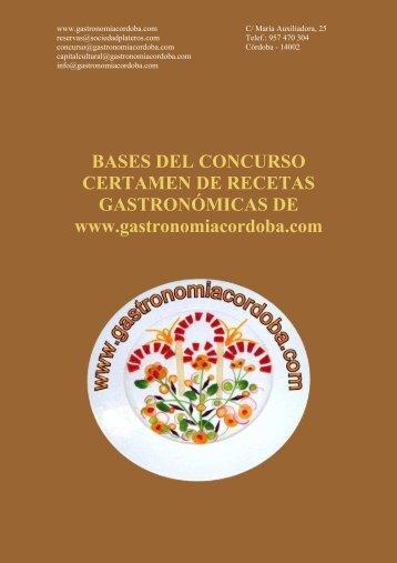 www gastronomiacordoba com BASES DEL CONCURSO ...