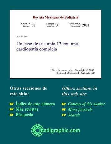 Un caso de trisomía 13 con una cardiopatía ... - edigraphic.com