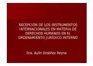 RECEPCIÓN DE LOS INSTRUMENTOS INTERNACIONALES EN ...