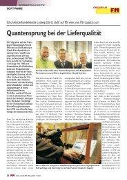 Quantensprung bei der Lieferqualität - PSI Logistics GmbH