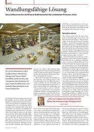 Wandlungsfähige Lösung - PSI Logistics GmbH