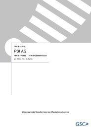 HV-Bericht PDF (ca. 130 KB) - PSI AG