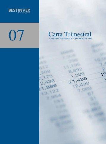 A NUESTROS INVERSORES, Nº 7, NOVIEMBRE DE 2009. - Bestinver