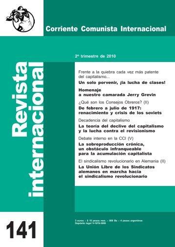 141 con cubierta A4 para sitio.pdf - Corriente Comunista Internacional
