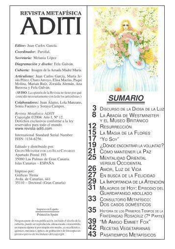 Revista ADITI Nº I-12 Sep.2004 - Juan Carlos Garcia