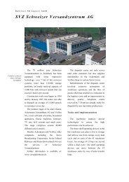 SVZ Schweizer Versandzentrum AG - PSI Logistics GmbH