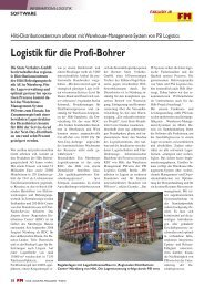 Logistik für die Profi-Bohrer - PSI Logistics GmbH