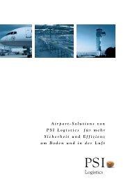 Broschüre Airport Solutions de - PSI Logistics GmbH