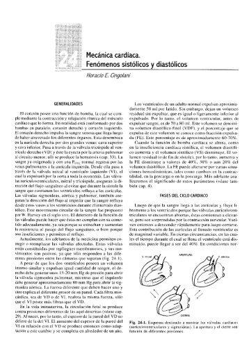 Mecánica cardíaca. Fenómenos sistólicos y diastólicos