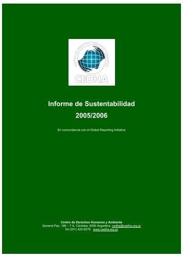Informe de Sustentabilidad 2005/2006 - Cedha