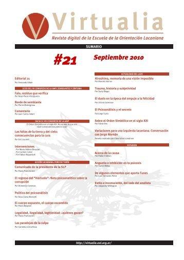 #21 Septiembre 2010 - Virtualia