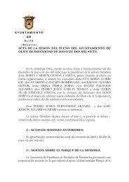 ACTA DE 18 DE MAYO DE 2007 - Ayuntamiento de Olite