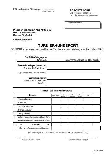 Bericht THS - Pinscher-Schnauzer-Klub