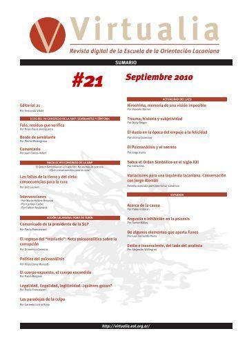 21 - Virtualia - Escuela de la Orientación Lacaniana