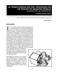 La Transformación del Programa en un Proyecto Arquitectónico - DTIC