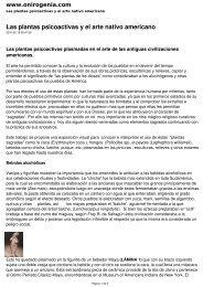 Las plantas psicoactivas y el arte nativo americano - Onirogenia
