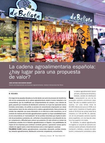 La cadena agroalimentaria española: ¿hay lugar para ... - Mercasa