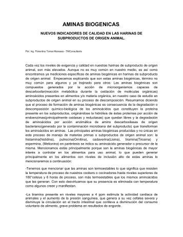 AMINAS BIOGENICAS. - Latinrendering