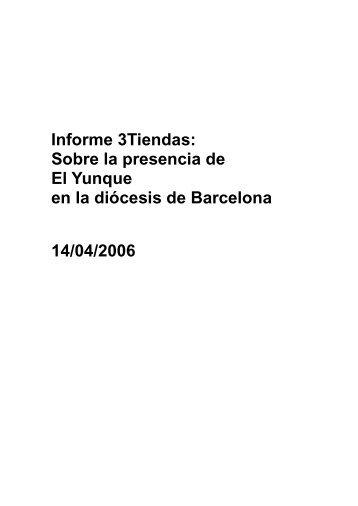 un informe al Obispo de Barcelona - Opus Dei