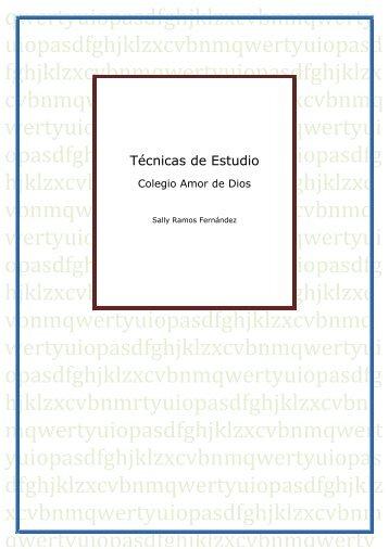 T cnicas de estudio fomento fundaci n - Colegio amor de dios oviedo ...