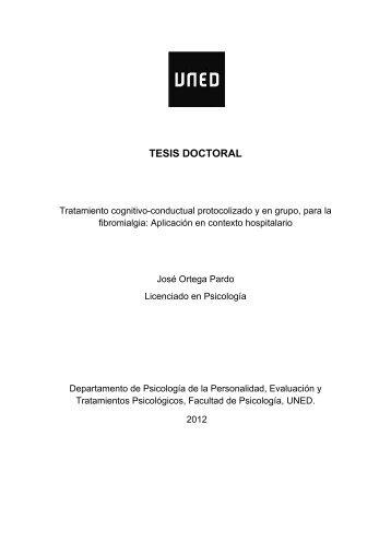 Tratamiento cognitivo-conductual protocolizado y ... - e-Spacio - Uned