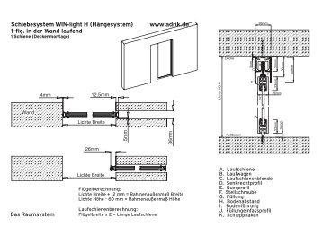 Schiebesystem WIN-light H (Hängesystem) www.adrik.de 1-flg. in ...