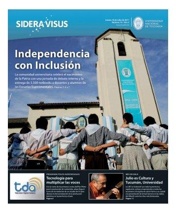 Independencia con Inclusión - Noticias de la UNT - Universidad ...