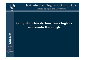 Simplificación de funciones lógicas utilizando Karnaugh