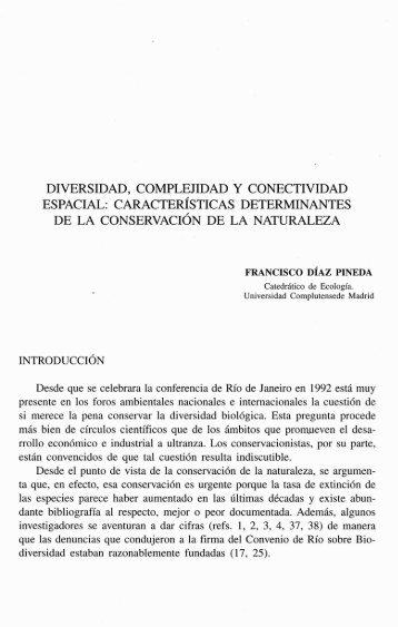 diversidad, complejidad y conectividad espacial - Universidad ...