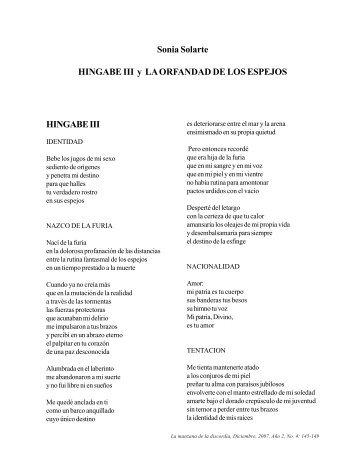 Sonia Solarte - Revista La Manzana de la Discordia