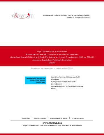 Redalyc.Normas para el desarrollo y revisión de estudios ...