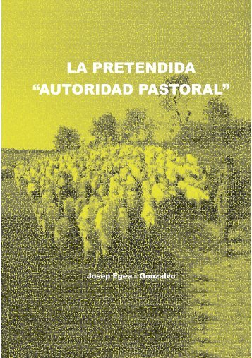 autoridad pastoral - Església Cristiana Bíblica