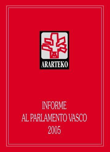 INFORME AL PARLAMENTO VASCO 2005 - Ararteko