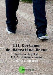 III Certamen Literario de Narrativa Breve - Publicatuslibros.com