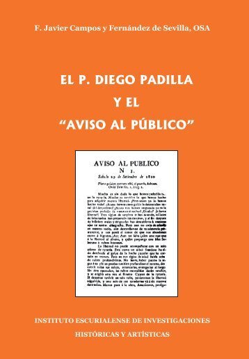 """el p. diego padilla y el """"aviso al público"""" - Sitio Web de FRANCISCO ..."""
