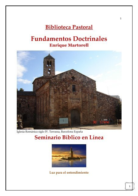 Fundamentos Doctrinales De Enrique Martorell La Iglesia