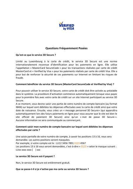 Carte But Mon Compte.Faq 3d Secure Pdf Luxembourg