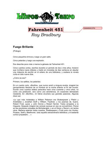 Fahrenheit 451 Ray Bradbury Fuego Brillante - Educarchile