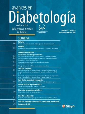 4001129 avances 24(6).indb - Sociedad Española de Diabetes
