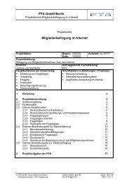 PTA GmbH Berlin Mitgliederbefragung im Internet