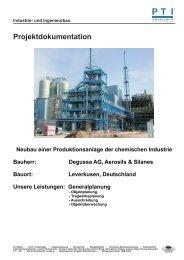 Neubau einer Produktionsanlage der chemischen Industrie - PTI ...