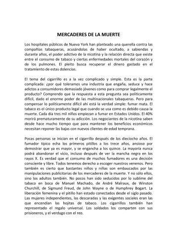 MERCADERES DE LA MUERTE - Aula de Lengua
