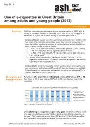 Use of e-cigarettes in Great Britain among adults and young people (2013)