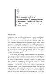 De la concentración a la fragmentación. El juego político en ...