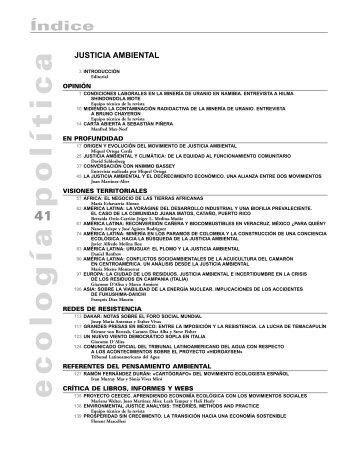 justicia ambiental - Ecología Política