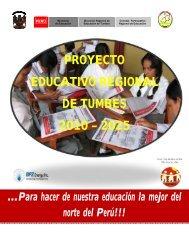 proyecto educativo regional de tumbes 2010 – 2025 - Consejo ...