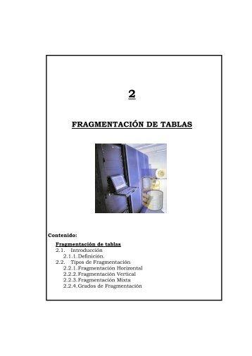 FRAGMENTACIÓN DE TABLAS - Repositorio UTN
