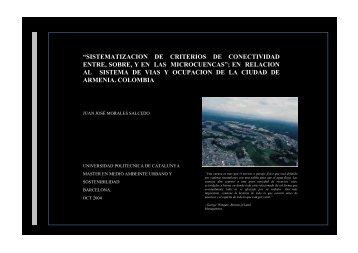 sistematizacion de criterios de conectividad entre, sobre, y en las ...